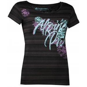 Dámské triko s krátkým rukávem ALPINE PRO DIONE 4 LTSJ188 ČERNÁ
