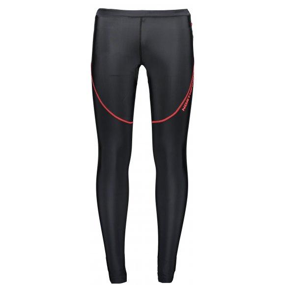 Pánské běžecké kalhoty NORTHFINDER HENRIK NO-3271SII ČERNOČERVENÁ