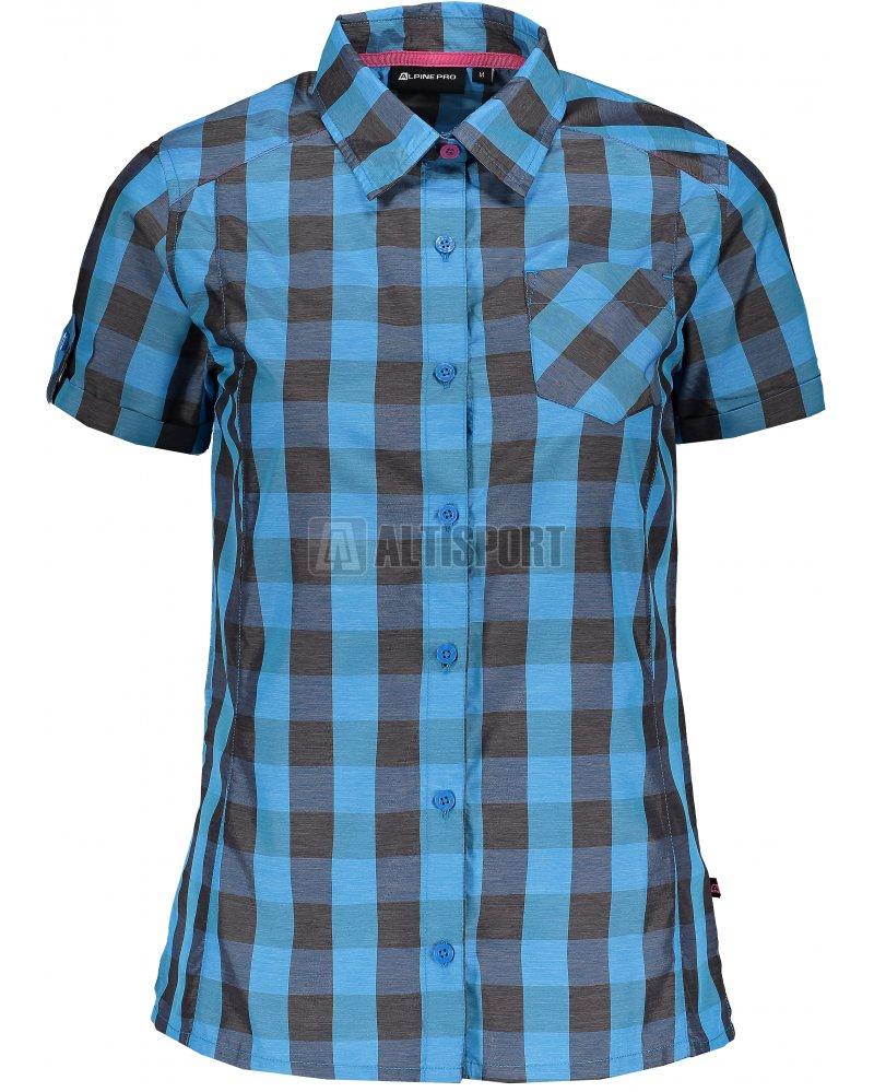 Dámská košile s krátkým rukávem ALPINE PRO LURINA LSHJ011 MODRÁ ... 29a37d2297