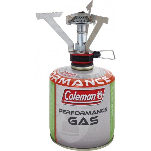 AKČNÍ SET plynový hořák COLEMAN FYRELITE + KARTUŠE COLEMAN C300 PERFORMANCE STŘÍBRNÁ