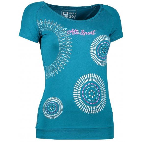 Dívčí triko s krátkým rukávem ALTISPORT ARLA-J ALJS17061 TYRKYSOVÁ