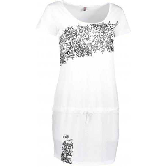 Dívčí šaty ALTISPORT PURNE-J ALJS17102 BÍLÁ