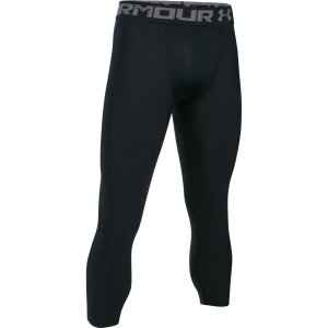 Pánské legíny UNDER ARMOUR HG ARMOUR 2.0 3 4 LEGGING 1289574-001  BLACK GRAPHITE e15e2ff695