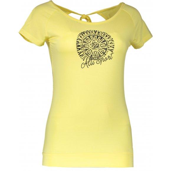 Dívčí triko s krátkým rukávem ALTISPORT BORJA-J ŽLUTÁ