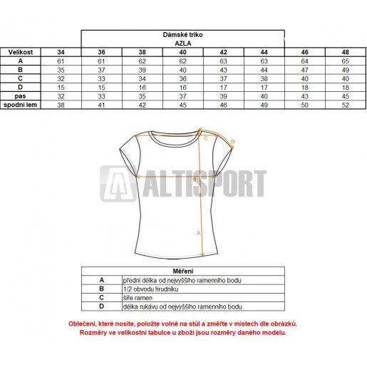 Dámské triko ALTISPORT AZLA ALLW17061 TYRKYSOVÁ