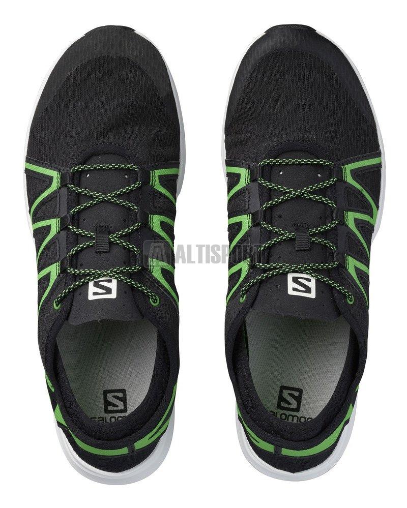 Pánské běžecké boty SALOMON CROSSAMPHIBIAN SWIFT L39344900  BLACK BLACK CLASSIC GREEN d2605bab1f