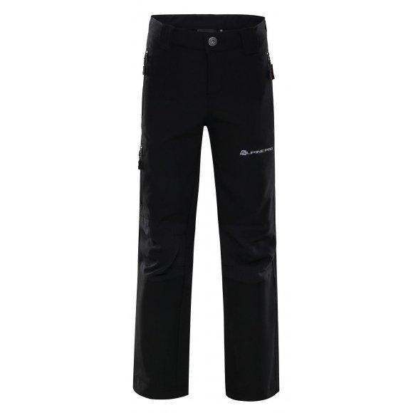 Dětské softshellové kalhoty ALPINE PRO POPO KPAK043 ČERNÁ