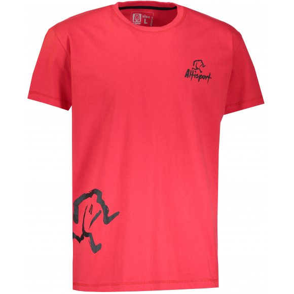 Chlapecké tričko s krátkým rukávem ALTISPORT AGNAN-J ČERVENÁ