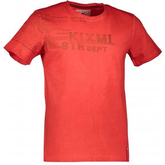Pánské triko KIXMI DEMARCO AAMTW17152 ČERVENÁ