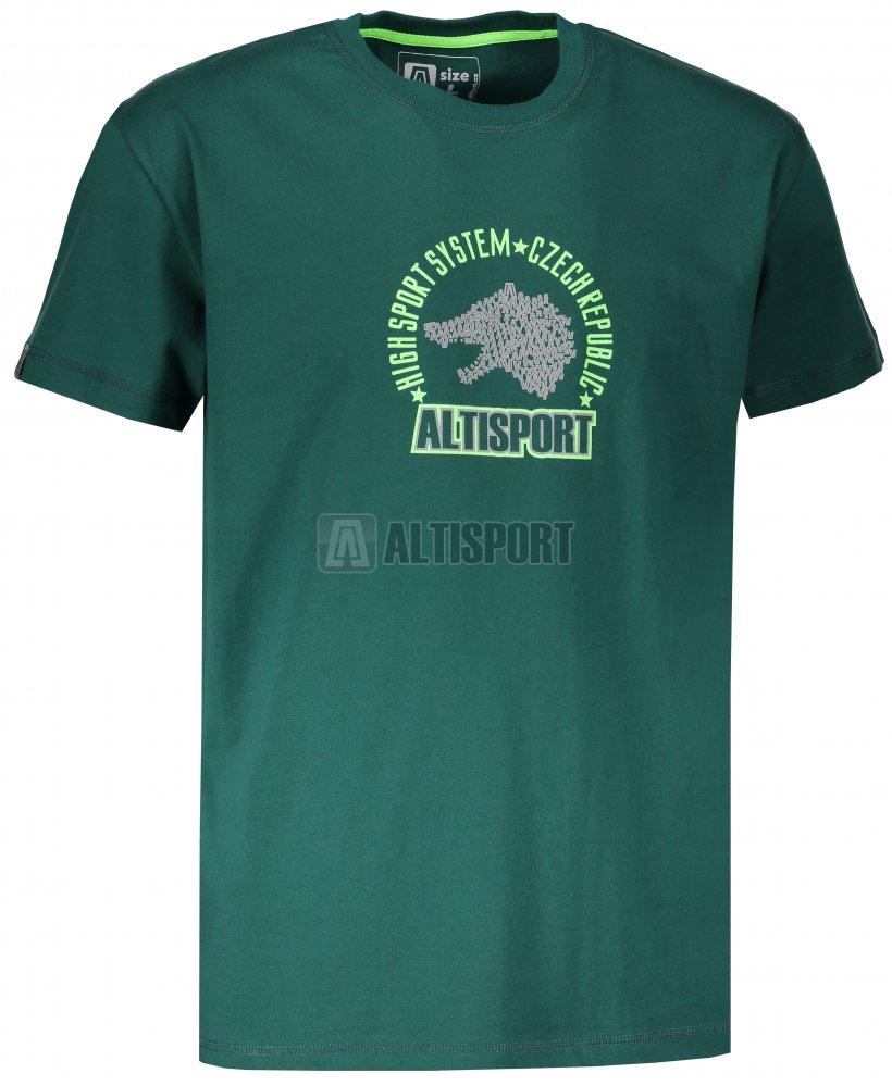 b894c14835d Pánské tričko s krátkým rukávem ALTISPORT LOULAD TMAVĚ ZELENÁ ...