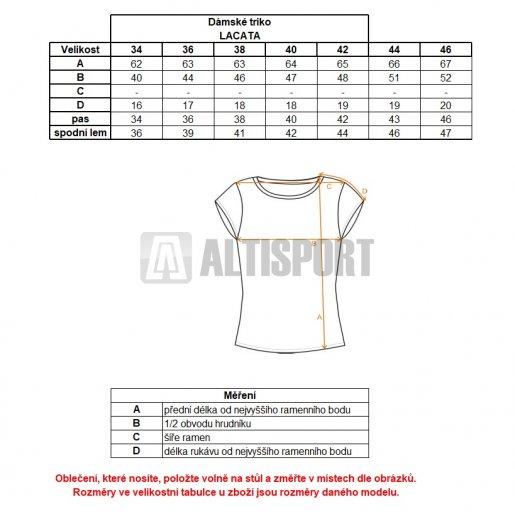 Dámské triko ALTISPORT LACATA ALLW17067 ČERNÁ