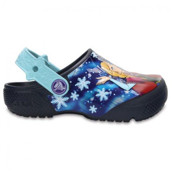 Dětské pantofle CROCS CROCSFUNLAB FROZEN 204112-410 NAVY