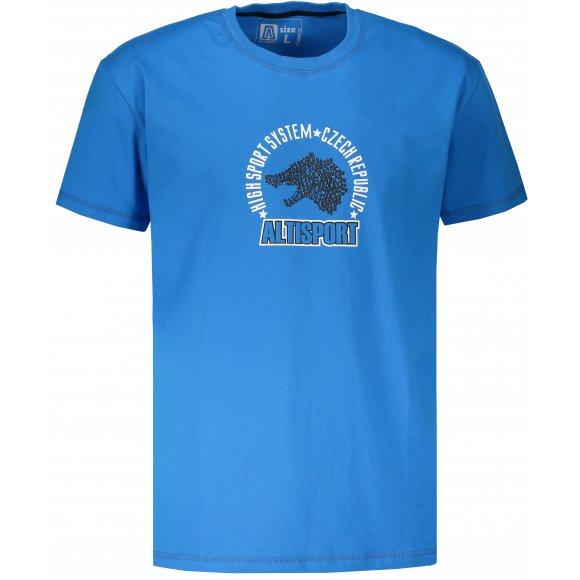 Pánské tričko s krátkým rukávem ALTISPORT LOULAD MODRÁ