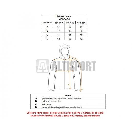 Chlapecká zimní bunda ALTISPORT MEGDAZ-J ALJW17013 ČERNÁ