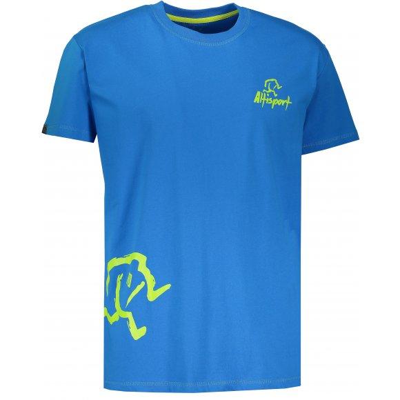 Chlapecké tričko s krátkým rukávem ALTISPORT AGNAN-J MODRÁ