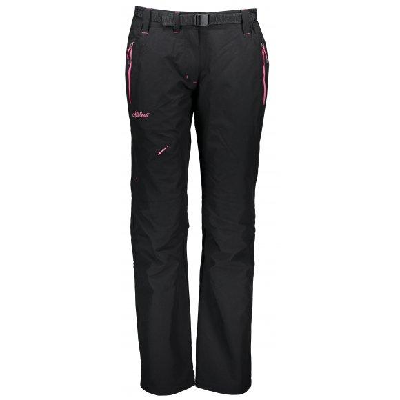 Dámské zateplené kalhoty ALTISPORT TURSA II ČERNORŮŽOVÁ
