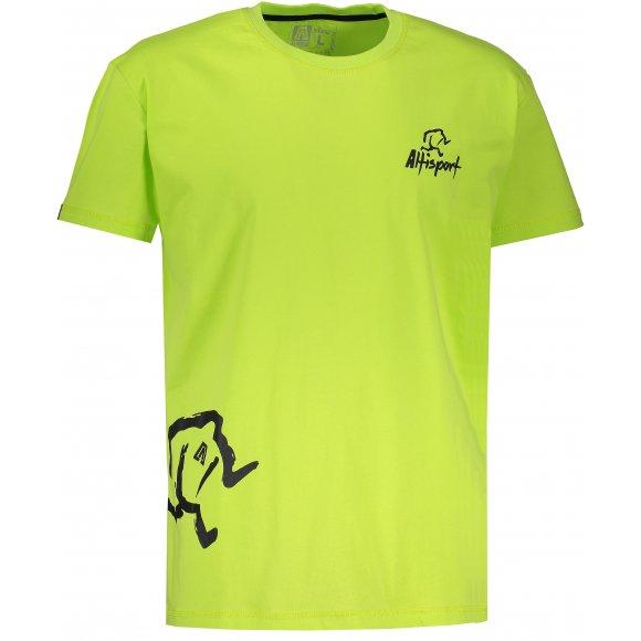 Chlapecké tričko s krátkým rukávem ALTISPORT AGNAN-J SVĚTLE ZELENÁ