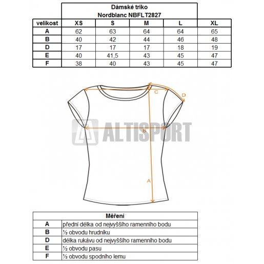Dámské tričko s krátkým rukávem NORDBLANC NBFLT2827 RAZER ZELENÁ