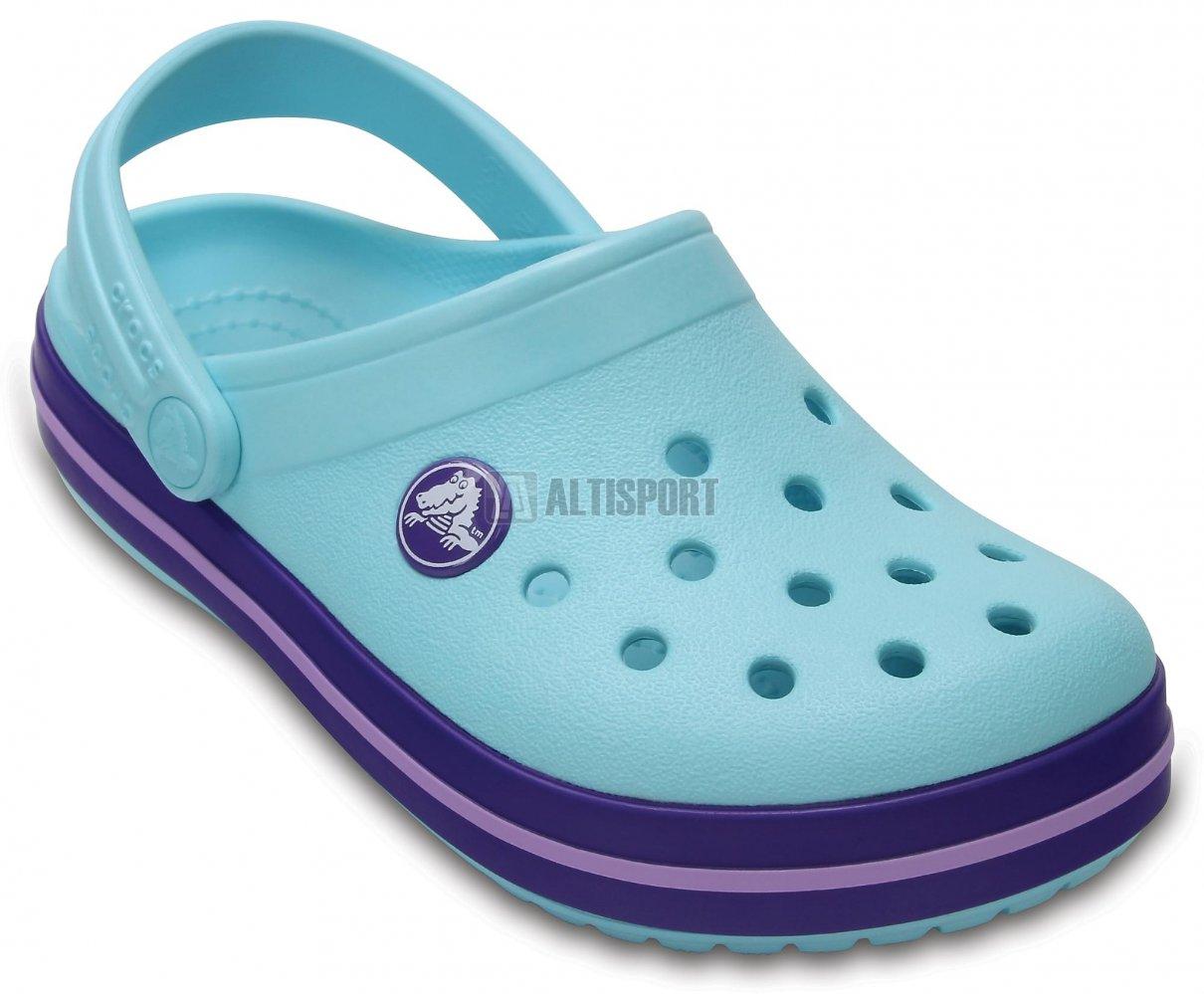 Dětské pantofle CROCS CROCBAND CLOG K 204537-4O9 ICE BLUE velikost ... 426df04f98