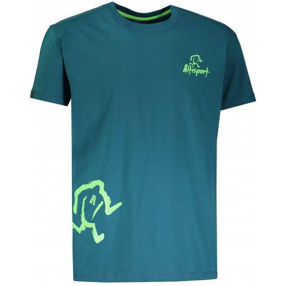 Chlapecké tričko s krátkým rukávem ALTISPORT AGNAN-J TYRKYSOVÁ