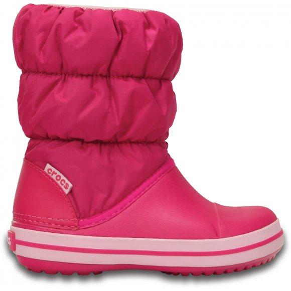 Dětské zimní boty CROCS WINTER PUFF BOOT KIDS 14613-6X0 CANDY PINK