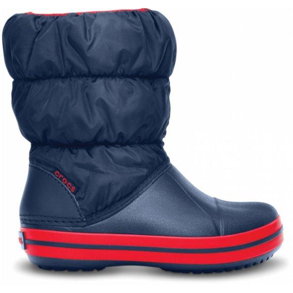 Dětské zimní boty CROCS WINTER PUFF BOOT KIDS 14613-485 NAVY/RED