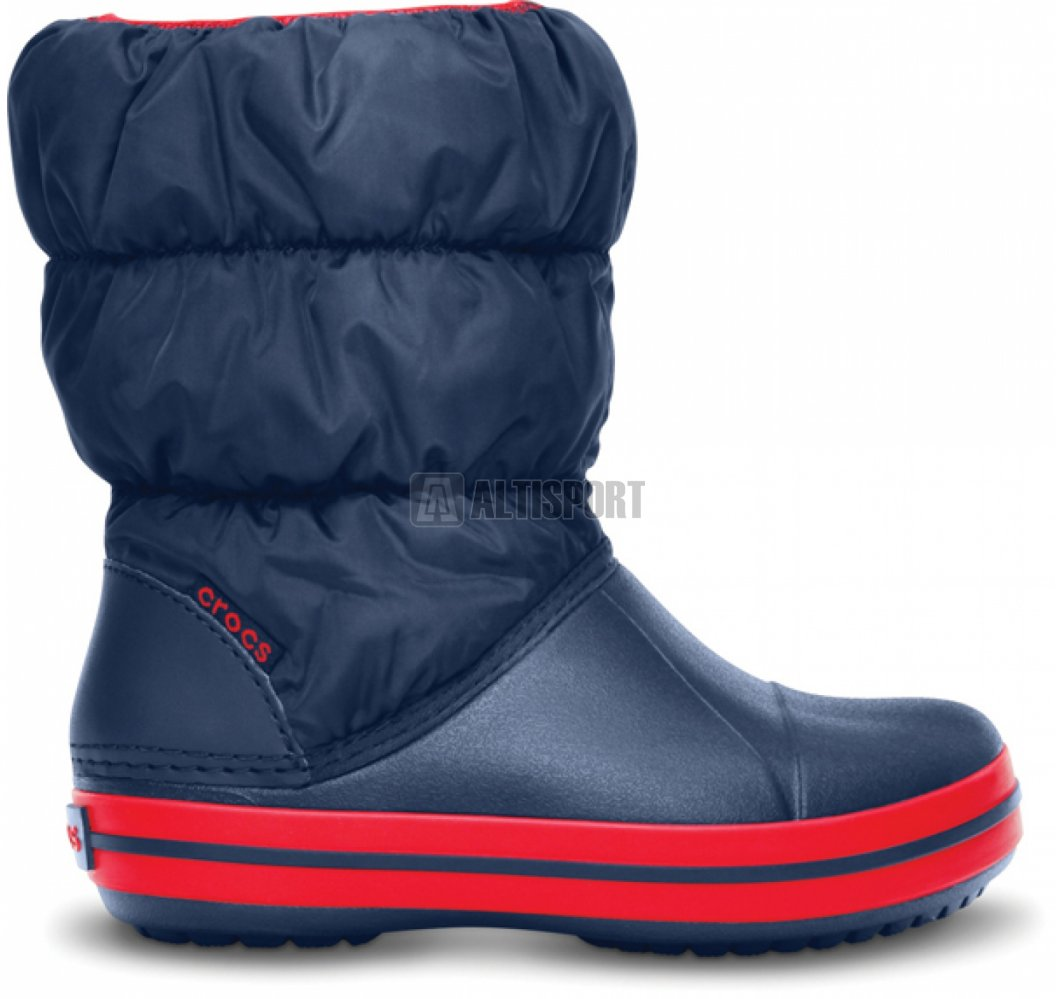 5cc0316ca29 Dětské zimní boty CROCS WINTER PUFF BOOT KIDS 14613-485 NAVY RED ...