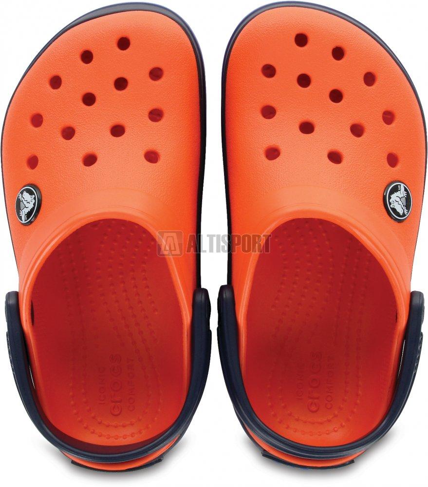 Dětské pantofle CROCS CROCBAND CLOG K 204537-8B3 TANGERINE NAVY ... d5f49ab472