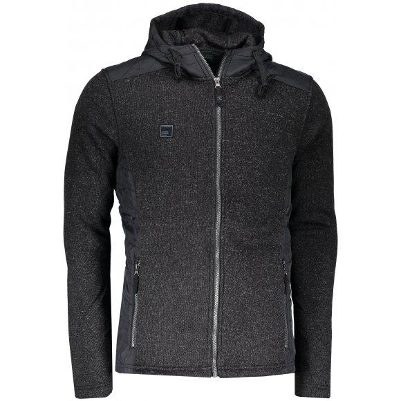 Pánský sportovní svetr s kapucí LOAP GARP OLM1721 ČERNÁ