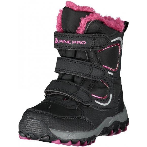 Dětská zimní obuv ALPINE PRO HARYKO KBTK158 ČERNÁ