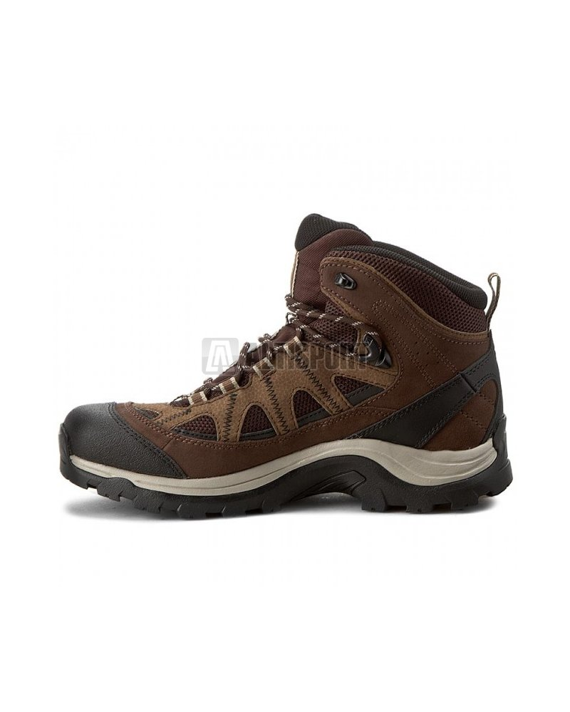 b15598fa15b Pánské turistické boty SALOMON AUTHENTIC LTR GTX BLACK COFFEE CHOCOLATE  BROWN VINTAGE KHAKI
