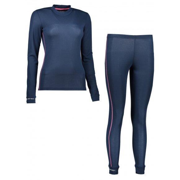 Akční set dámské termo triko s dlouhým rukávem + spodky SENSOR ORIGINAL ACTIVE SET 17200053 TMAVĚ MODRÁ
