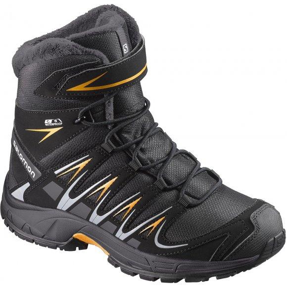Dětské zimní boty SALOMON XA PRO 3D WINTER TS CSWP K BLACK/INDIA INK/BRIGHT MARIGOLD