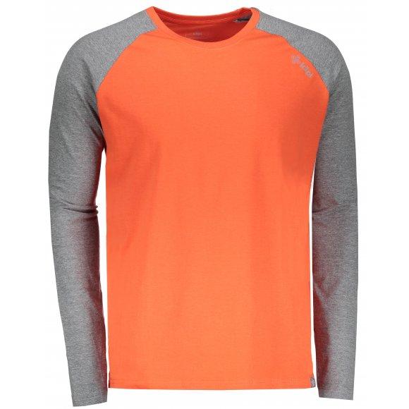 Pánské tričko s dlouhým rukávem KILPI LONGO-M HM0096KI ORANŽOVÁ