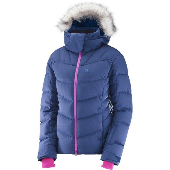 Dámská péřová bunda SALOMON ICETOWN JKT W  L39775600 MEDIEVAL BLUE HEATHE