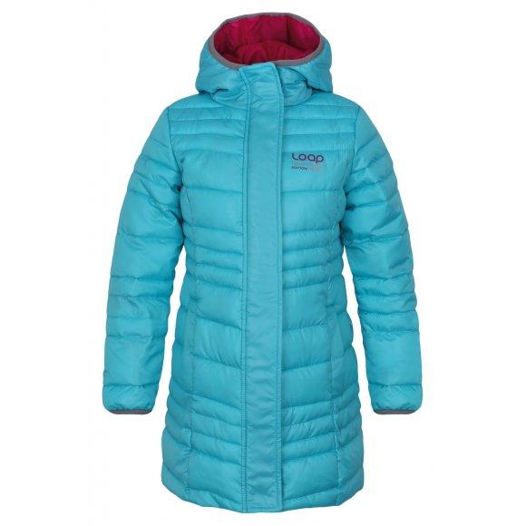 Dětský zimní kabát LOAP URZIKA L7147 AZUROVĚ MODRÁ