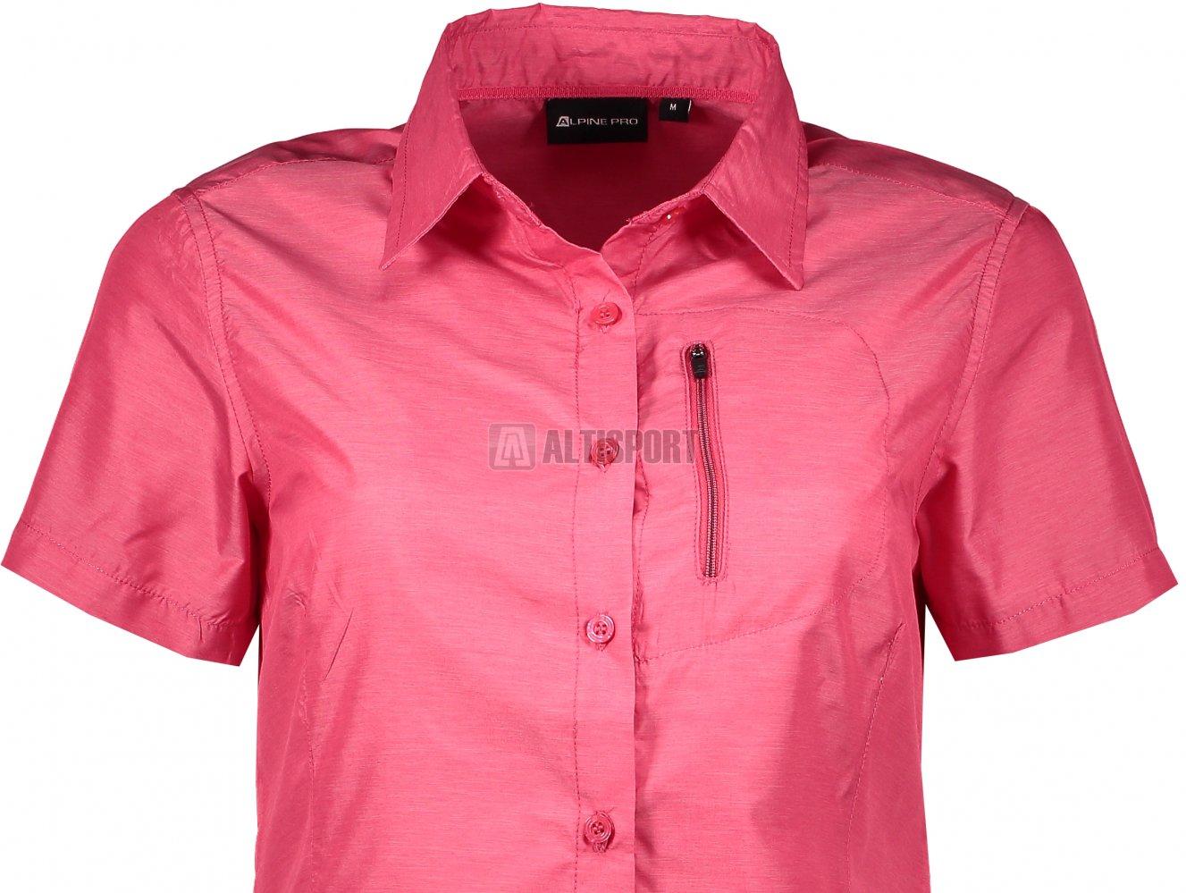 589fb33e99f Dámská košile s krátkým rukávem ALPINE PRO LURINA 2 LSHL015 TMAVĚ RŮŽOVÁ