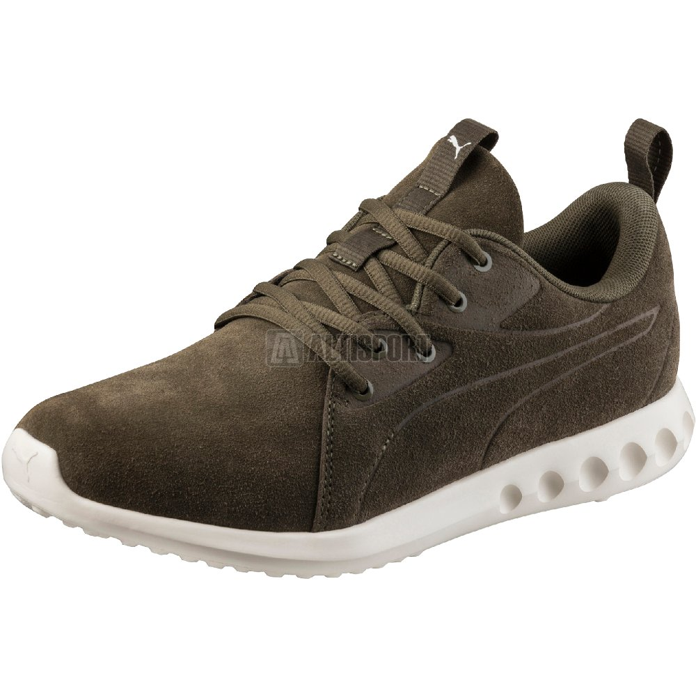 Pánské boty PUMA CARSON 2 MOLDED SUEDE 19058903 OLIVE NIGHT WHISPER WHITE 453912bf83