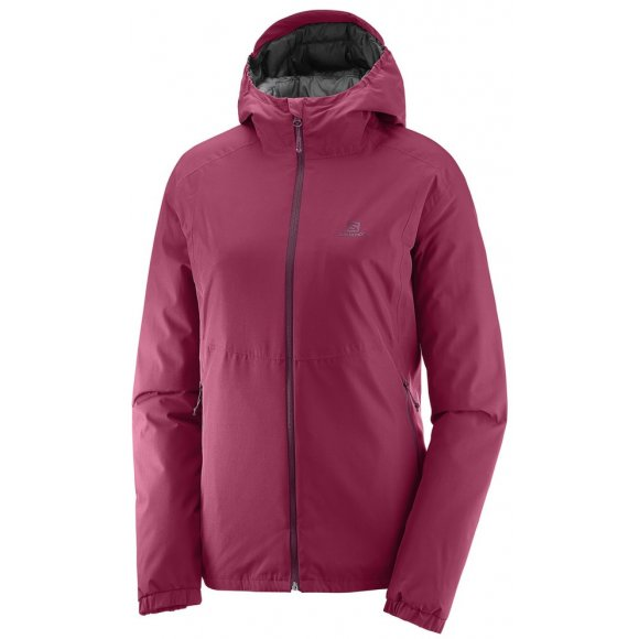 Dámská sportovní bunda SALOMON ESSENTIAL INSULATED JKT W  L39692700 BEET RED