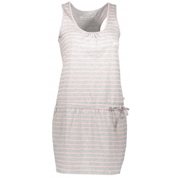 Dívčí šaty ALPINE PRO KAIKO KSKL027 ŠEDÁ