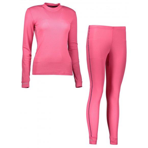 Akční set dámské termo triko s dlouhým rukávem + spodky SENSOR ORIGINAL ACTIVE SET 17200054 RŮŽOVÁ