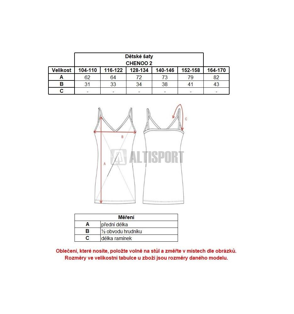 037b96e2c711 Dívčí šaty ALPINE PRO CHENOO 2 KSKL025 MODRÁ velikost  116-122 ...