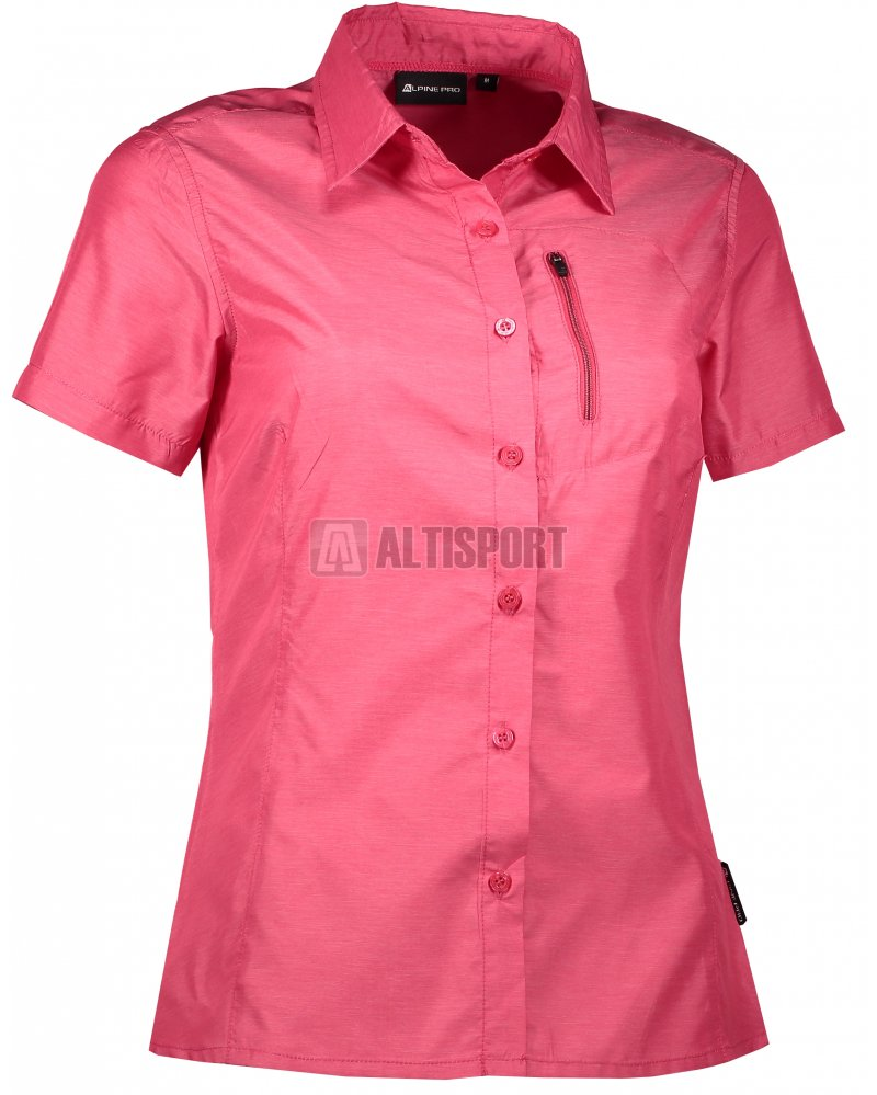 Dámská košile s krátkým rukávem ALPINE PRO LURINA 2 LSHL015 TMAVĚ RŮŽOVÁ 3bcd13aa1f