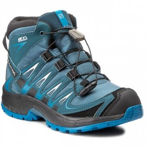 Dětské trekové boty SALOMON XA PRO 3D MID CSWP K MALLARD BLUE REFLECTING  POND  8f177c9bc8