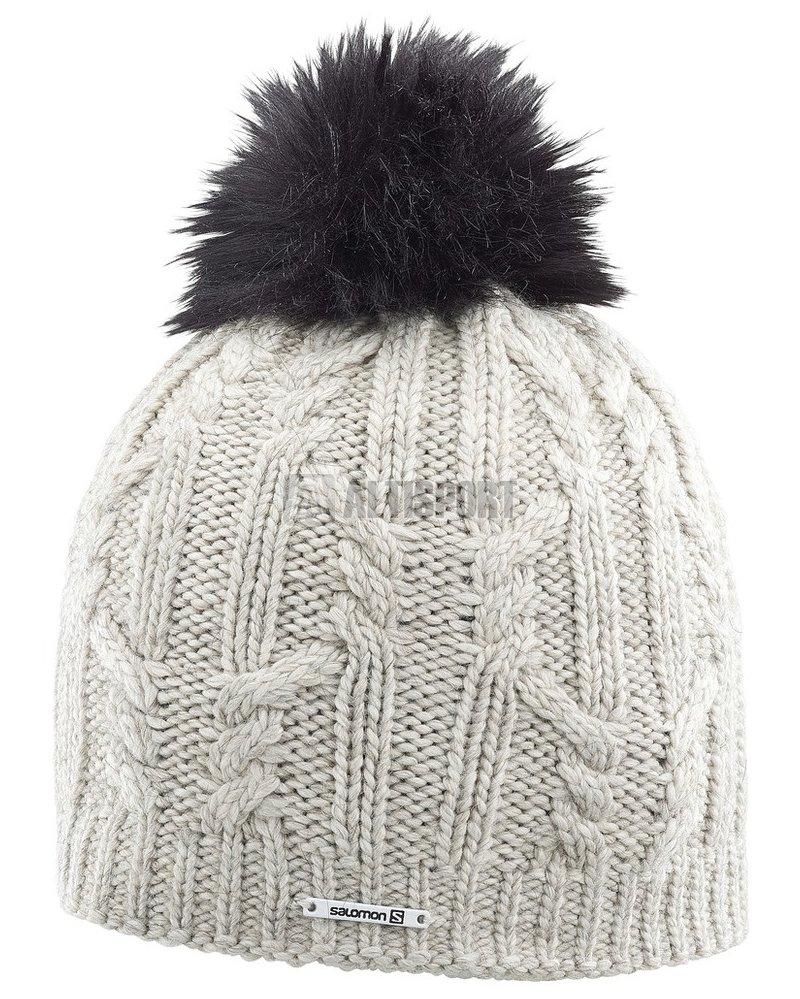 Dámská zimní čepice SALOMON IVY BEANIE L39689600 NATURAL velikost ... f902302d56