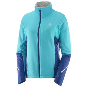 4027503a567 Dámská běžkařská bunda SALOMON ESCAPE JKT W L39740900 BLUE BIRD MEDIEVAL  BLUE