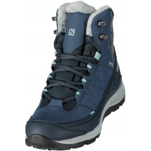 8be979f3d68 Dámské zimní boty SALOMON KAÏNA MID GTX DEEP BLUE SLATE BLUE BUBBLE BLUE