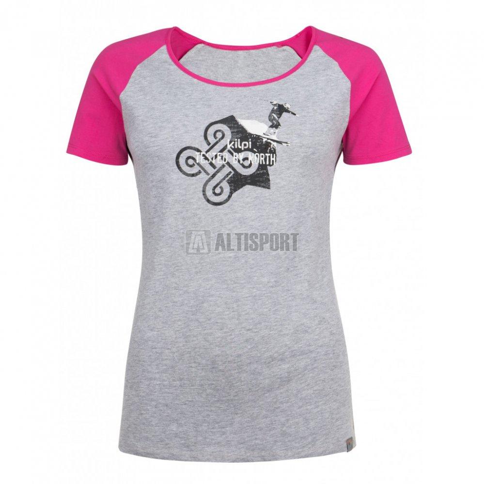 Dámské tričko s krátkým rukávem KILPI APPLE-W HL0173KI SVĚTLE ŠEDÁ ... b576e9c0aa