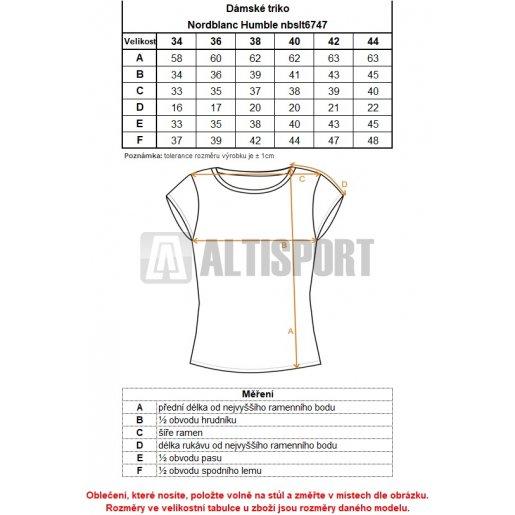 Dámské tričko NORDBLANC HUMBLE NBSLT6747 ČERNÁ
