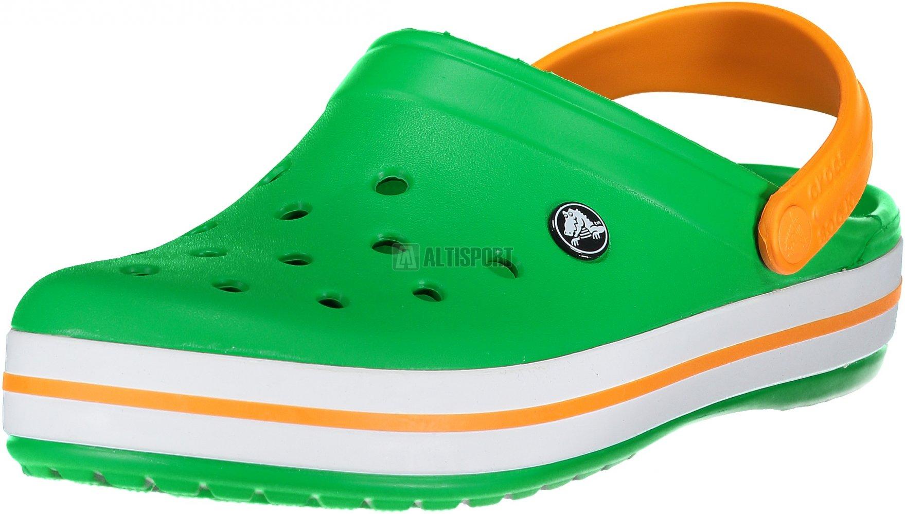 cafa78e5c0 Pánské pantofle CROCS CROCBAND CLOG 11016-3R4 GRASS GREEN WHITE BLAZING ORAN
